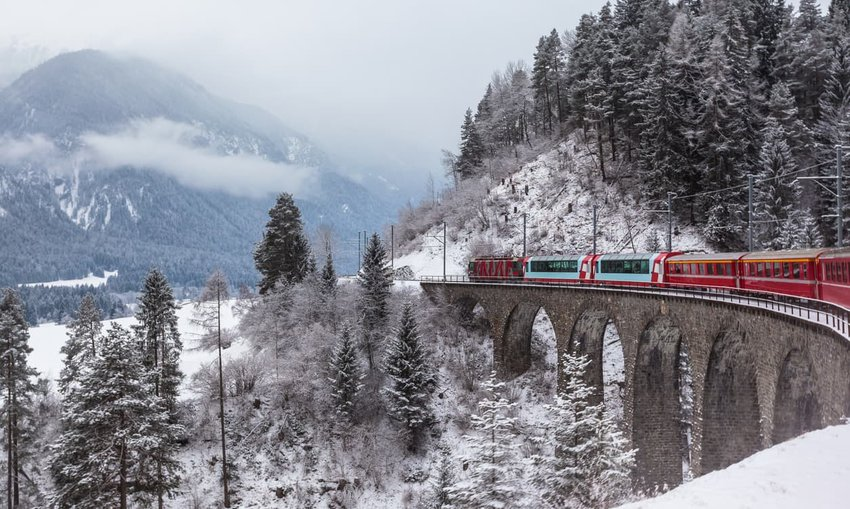 Glacier Express - Zermatt to St. Moritz, Switzerland