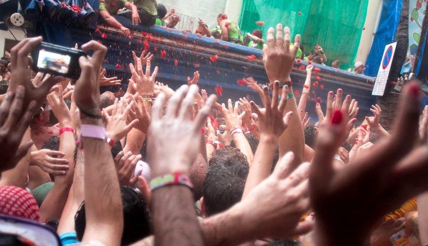 Tomatina festival Bunol, Spain