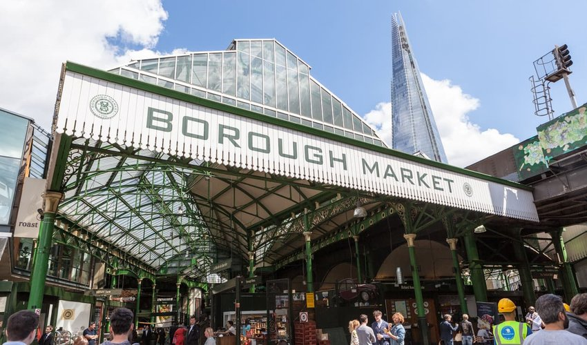 exterior of Borough Market, London