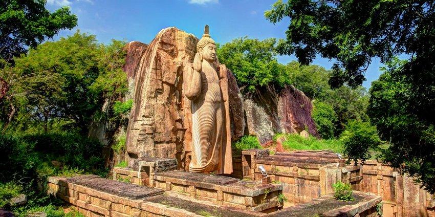 Avukana Buddha Statue, Sri Lanka