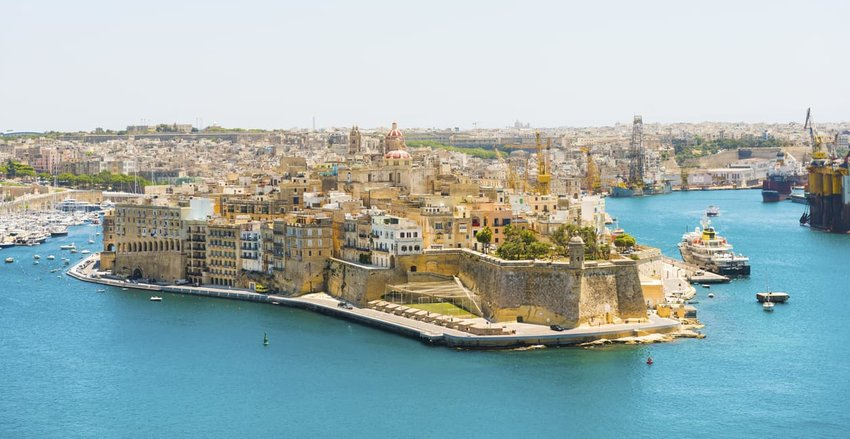 Fortress City Senglea from Valetta, Malta