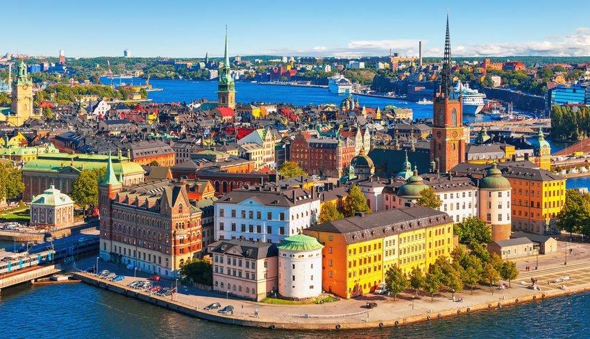 aerial view of Stockholm, Sweden