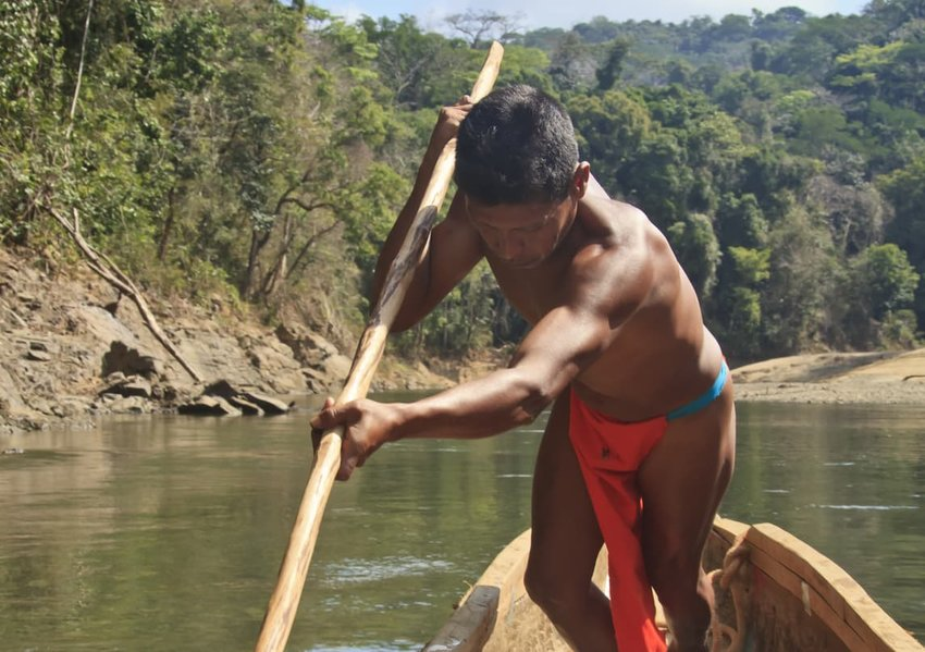 Panama: Embera Boatman on the Chagres River
