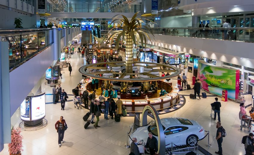 shopping center at airport