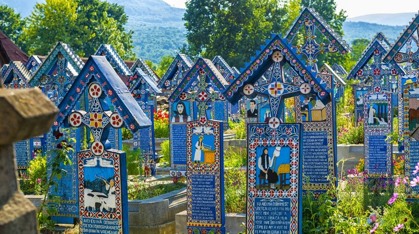 The Merry Cemetery, Romania