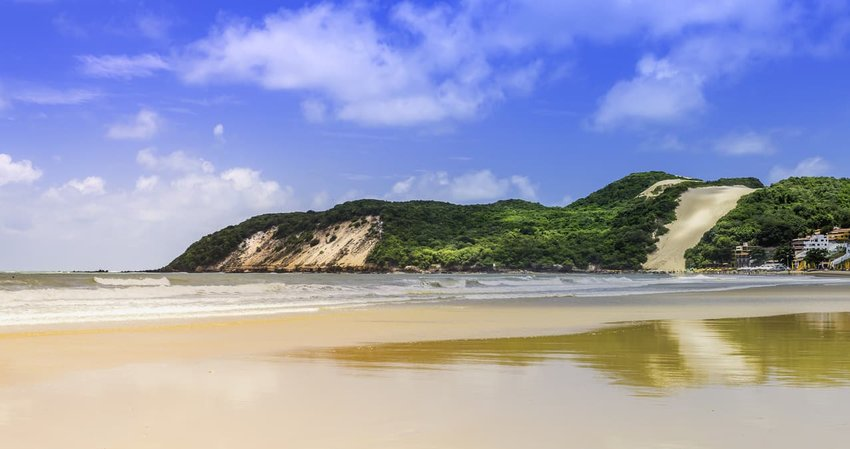 Ponta Negra dunes beach in city of Natal, Brazil