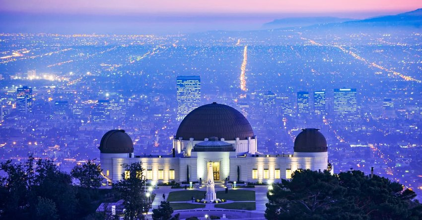 Griffith Observatory, Los Angeles, at sunset