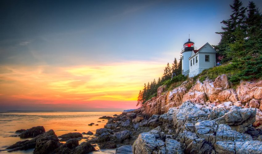 Lighthouse at Acadia National Park, Maine