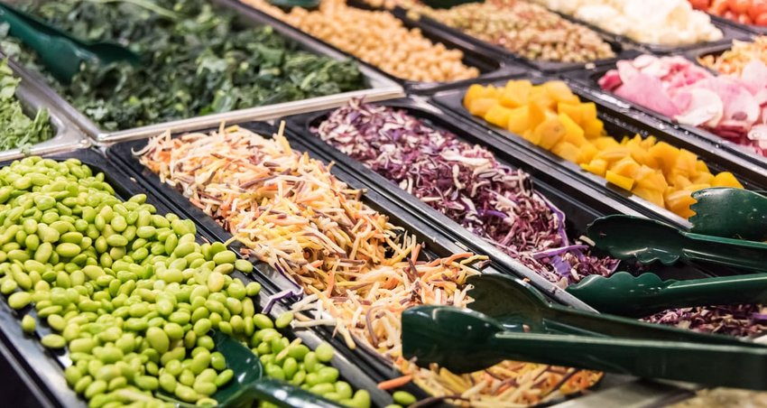 image of salad bar offerings