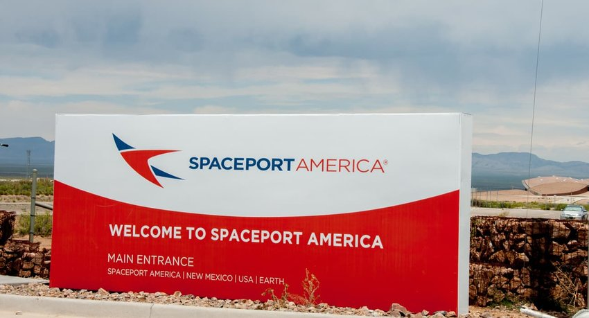 spaceport entrance sign