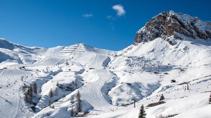 skiing in Val Gardena, Italy