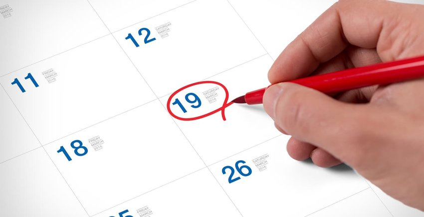 date circled on calendar