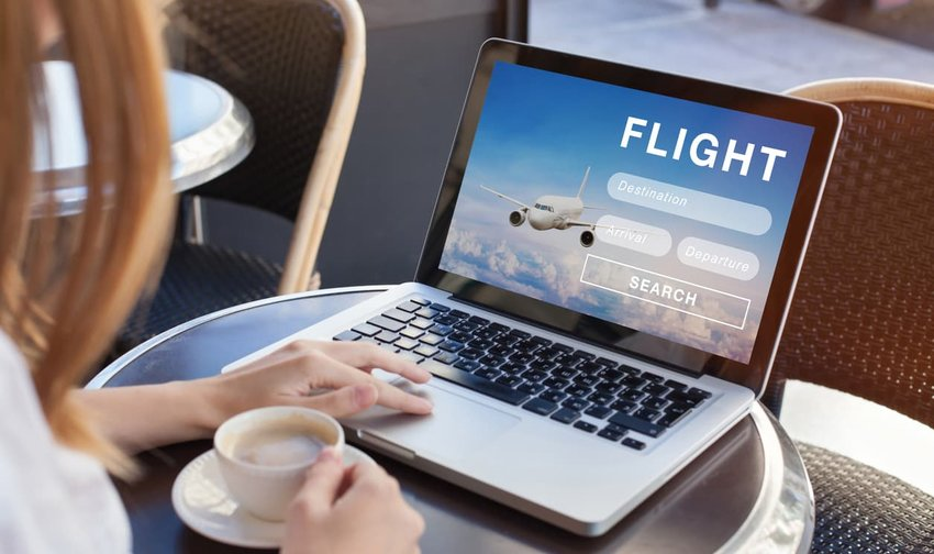Flight search on internet, buy ticket online