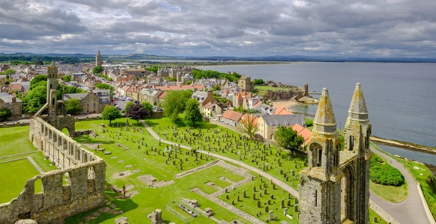 St. Andrews Cathedral Graveyard, Scotland