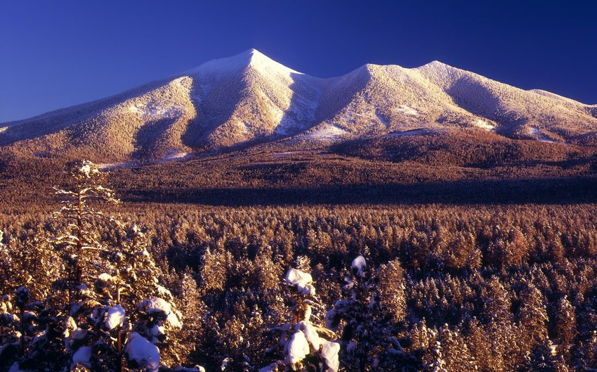 San Francisco Peaks in winter, Arizona