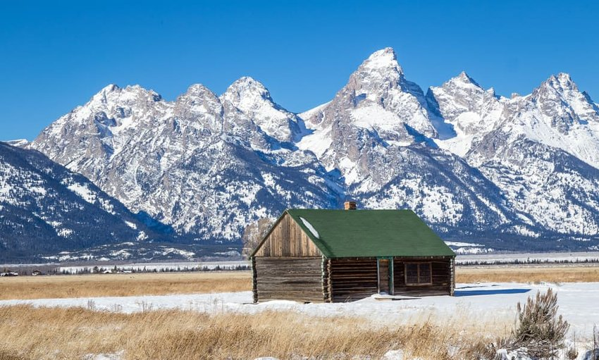 the Grand Teton in winter