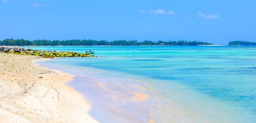 Beach on Tuvalu island