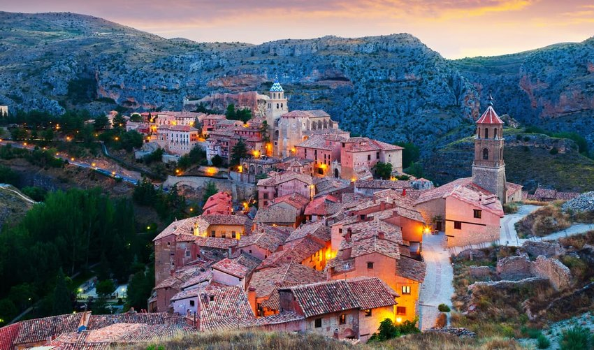 Evening view of Albarracin