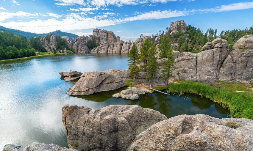 Beautiful Sylvan Lake, South Dakota