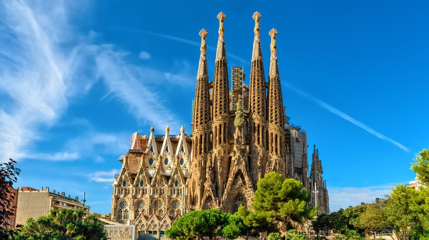 Sagrada Familia cathedral in Barcelona