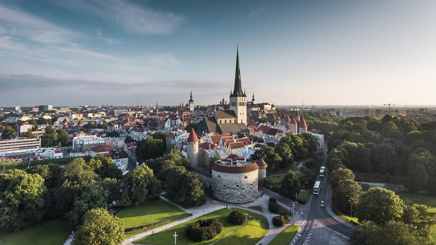 Tallinn Old Town Aerial View, Estonia