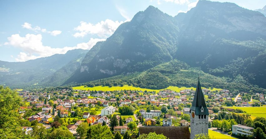 Balzers village in Liechtenstein