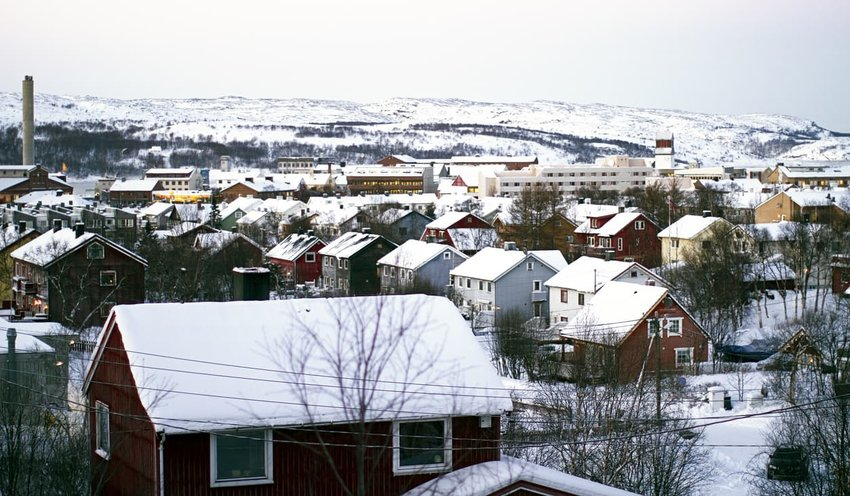 Winter snow houses Kirkenes, Norway