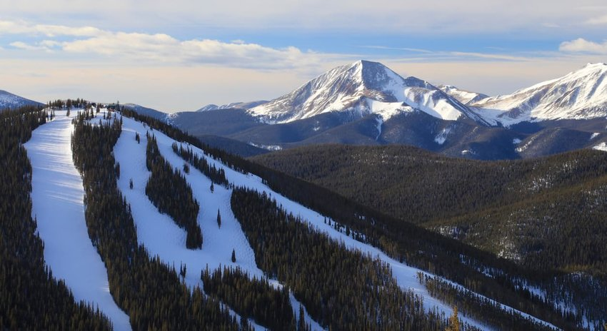 North Peak ski run at Keystone Ski Resort in Colorado