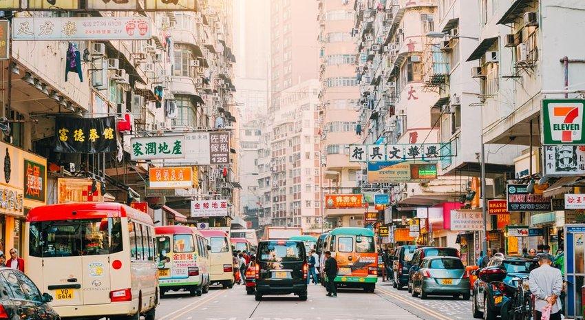 Hong Kong Street Scene, Mongkok District