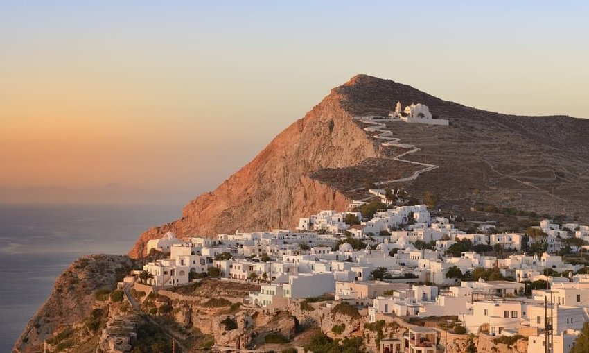 The Church of Panagia in Chora, Folegandros Cyclades.