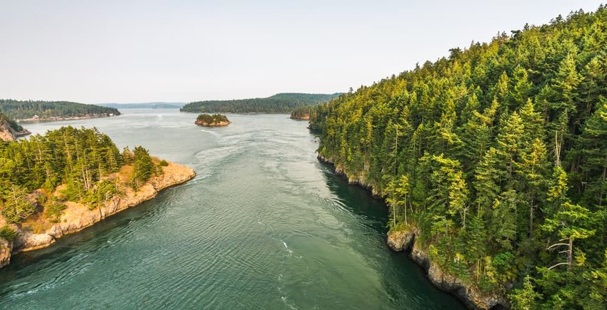 scenic view in Deception pass state park area, Anacortes, Washington