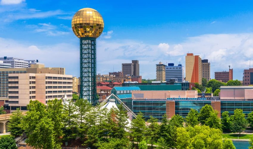 downtown Knoxville, Tennessee