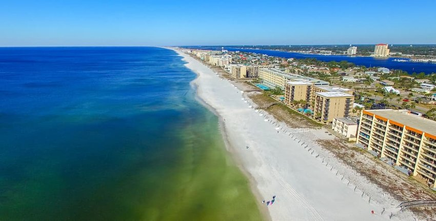 Aerial view of city. Fort Walton Beach, Florida