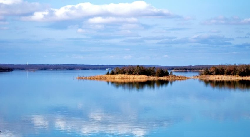 Mirrored Lake Murray, Oklahoma