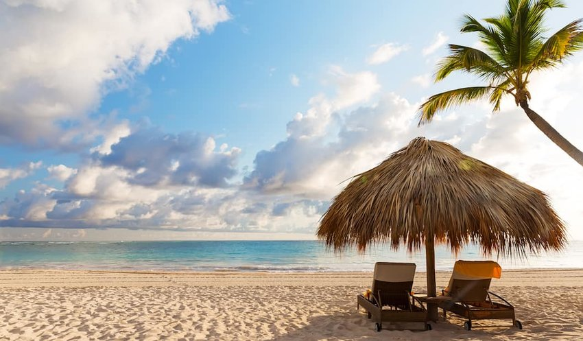 Beach-chairs-on-the-sand-in-Punta-Cana