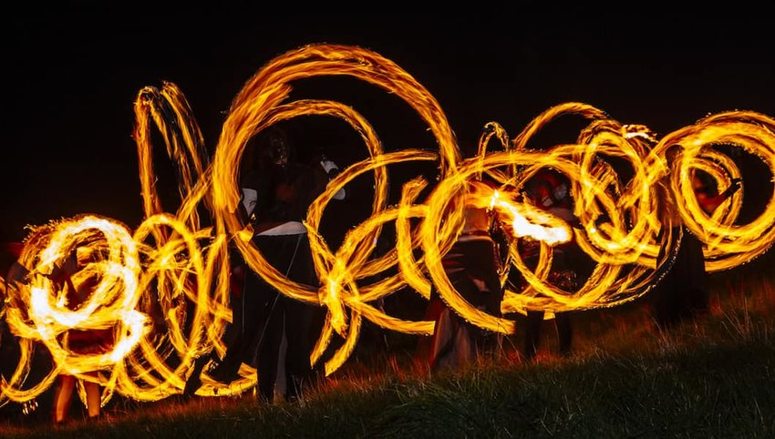 Fire-dancers-in-Scotland
