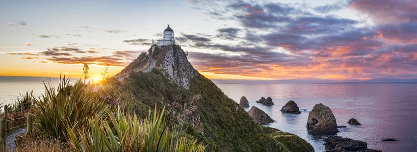 Sunset at Nugget Point