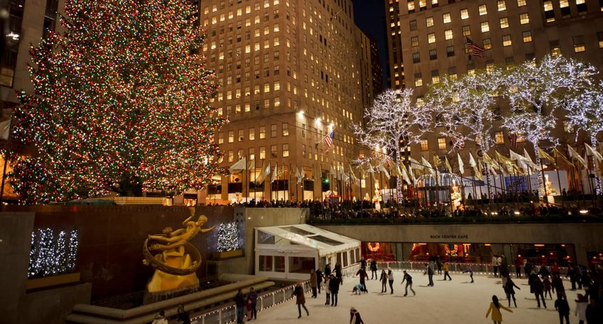 Rockefeller Center Christmas Tree and Skating Rink