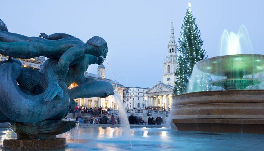 Trafalgar Square in London, England