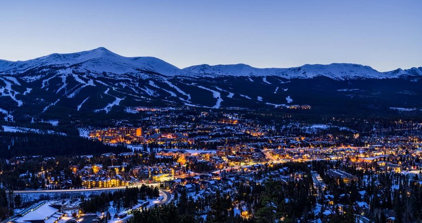 Breckenridge Colorado Winter Dusk Ski Runs