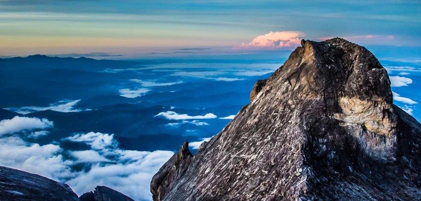 The Summit of  Mount Kinabalu in Borneo, Malaysia