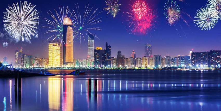 New Year fireworks display in Abu Dhabi