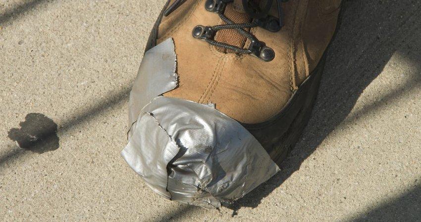 Duct Tape Shoe Repair