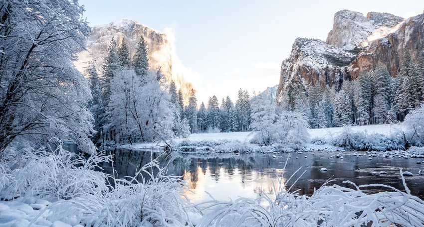 Yosemite National Park After a Fresh Snow