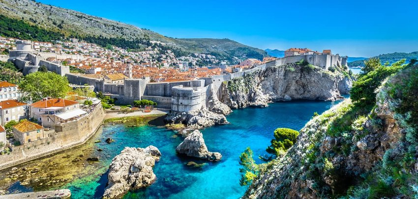 Adriatic Sea Dubrovnik landscape
