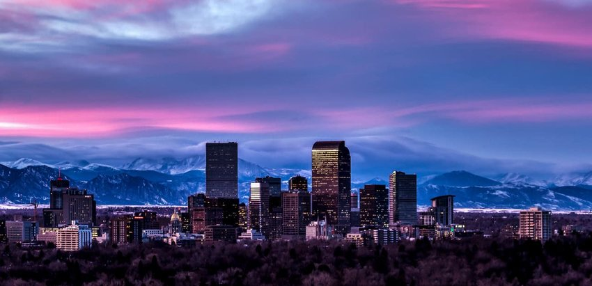 Denver Sunset Skyline