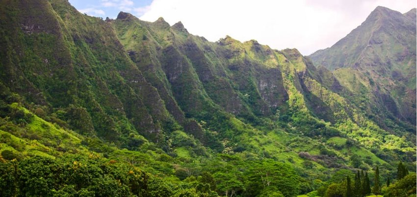 Ko'olau Mountain Range, Oahu, Hawaii