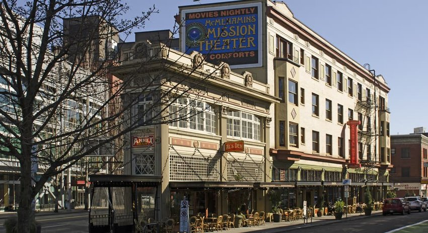McMenamins Crystal Hotel and Ballroom in downtown Portland Oregon