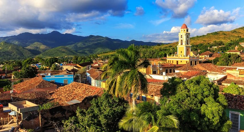 View over the city Trinidad on Cuba