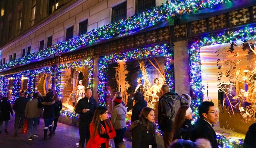 Saks Fifth Avenue's magical holiday themed window display